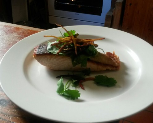 Chenin Blanc Salmon Chilli salad